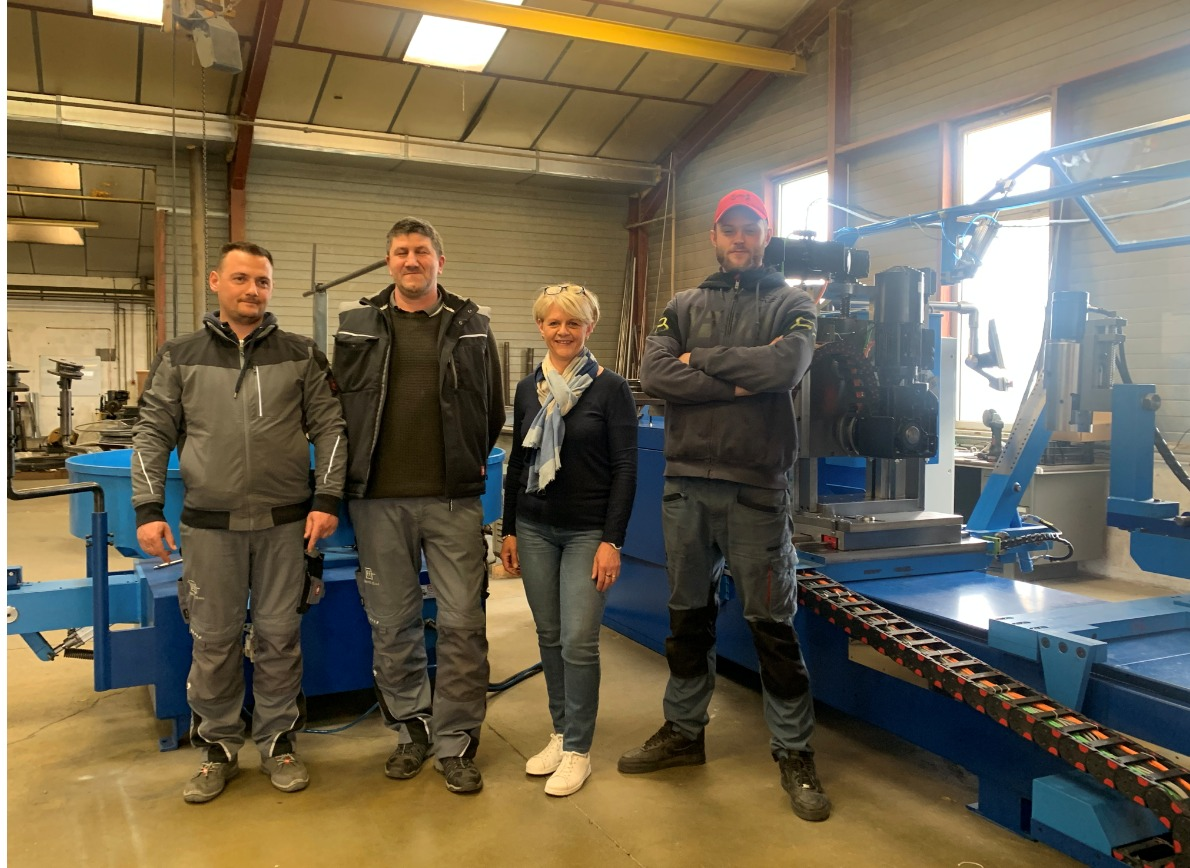 WIM-12 CNC WCS 4AX – new power for France Industries in Feurs, France